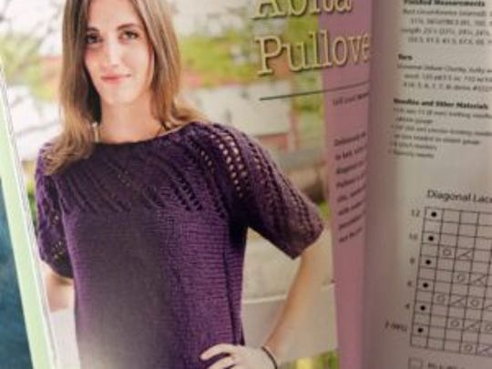 I think this Anita Pullover, which is knitted sideways, is very flattering.
