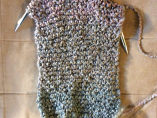 I've made some decisions about my charity knitting