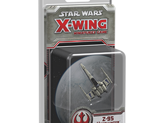 The Z-95 Headhunter starfighter pack for Star Wars X-wing contains four ship cards, five upgrade cards, one maneuver dial, and all the necessary tokens to bring this reliable Rebel starfighter to life in your tabletop space battles.