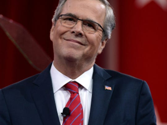 Jeb Bush speaks at the 2015 Conservative Political Action Conference (CPAC) at the Gaylord National Resort.