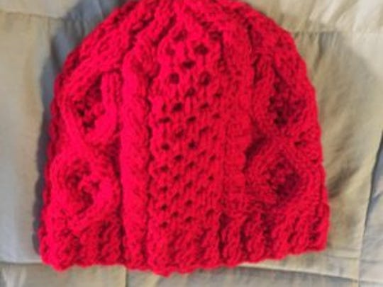 This is one of the Aran hats I made in 2016. it has