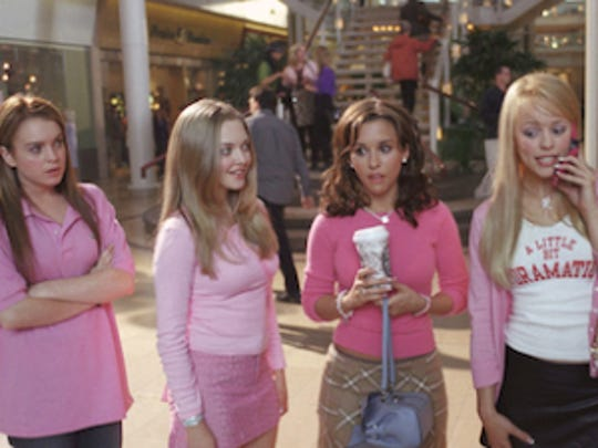 "The titular characters in ""Mean Girls"" wore pink on Wednesdays."
