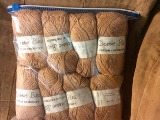 This Debbie Bliss cotton cashmere yarn would be good for Mom.