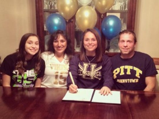 South Brunswick's Ashley Shor signs her letter of intent to University of Pittsburgh-Johnstown