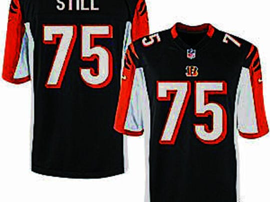 The Bengals are selling Still's <252>No. 75 jersey. <137>with STILL across the back. Every dime will go to Children's Hospital in Cincinnati, and toward pediatric cancer research. <137>