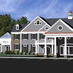 Artist's rendering of the Oliveri Funeral Home proposed in Jackson. The 19,000-square foot facility would include a catering hall, upstairs residence, and office space.