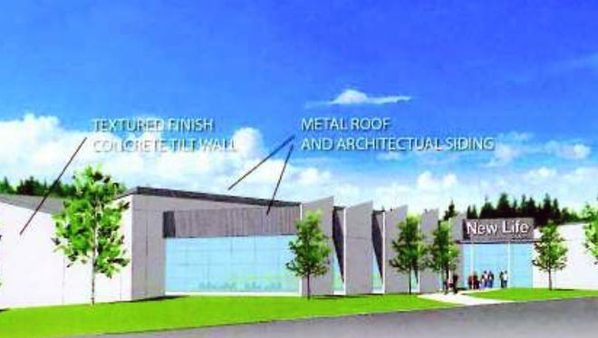 This is an artist's rendering for the New Life Chapel that will be constructed on Cincinnati-Dayton Road.