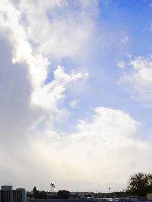 Cloudy skies over Salinas.