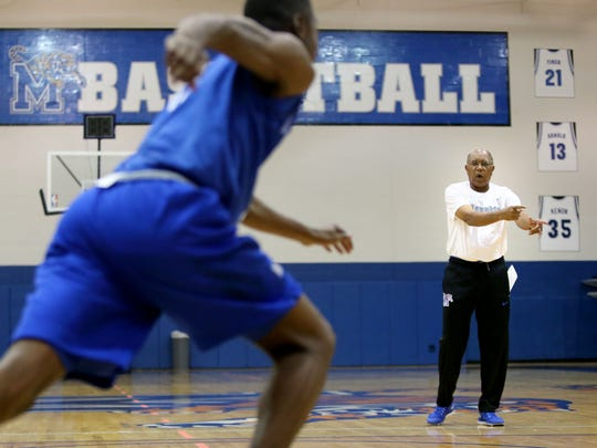 Memphis Tigers head basketball coach Tubby Smith during the first day of basketball practice Wednesday October, 5, 2016.