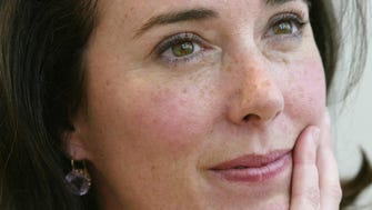 Kate Spade during an interview in New York.