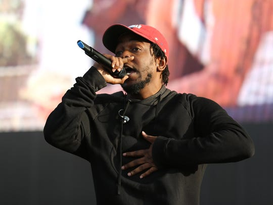 Kendrick Lamar performs at the New Look Wireless Festival