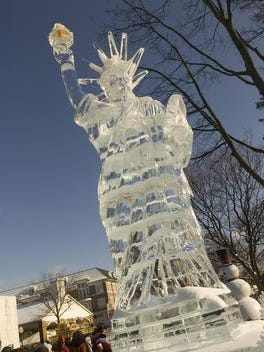 This carving of Lady Liberty graced Kellogg Park during the 2012 ice festival. The 2016 edition is Jan. 8-10.