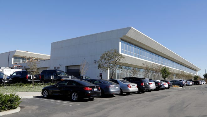 The Faraday Future building in Gardena, Calif. Faraday Future has been hunting for a place to build what it says will be a $1 billion manufacturing plant for a new line of cars. Four states are contenders and the company says to expect an announcement within weeks. Like Tesla, Faraday's car will be all-electric, and debut at the high end.