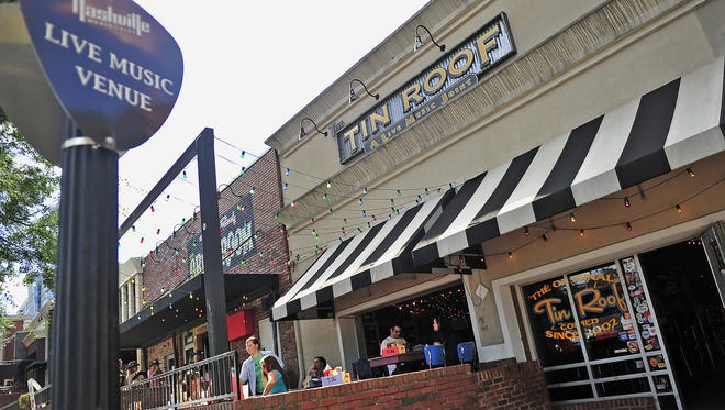 The Tin Roof bar is part of the retail strip on Demonbreun Street that a New Jersey-based investor just bought for $33.5 million.