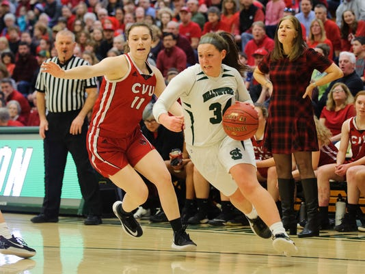 Girls High School Basketball Championship St. Johnsbury vs. CVU 03/11/18