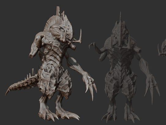 3D model of Starcraft primal zerg Dehaka.