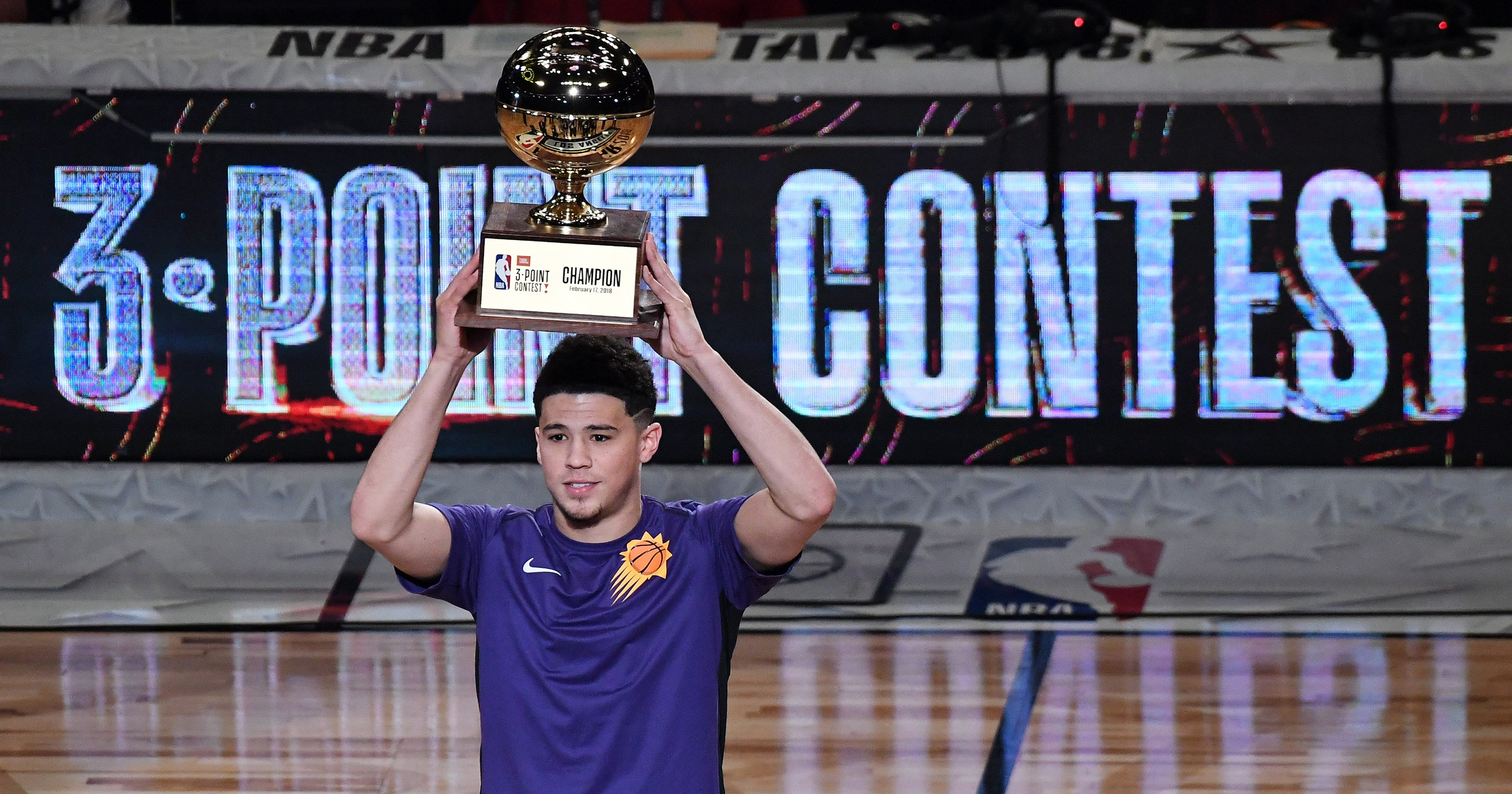 c00ed78428fd Devin Booker wins Three-Point Contest with record-breaking performance