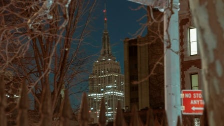 Earth Hour in New York City last year.