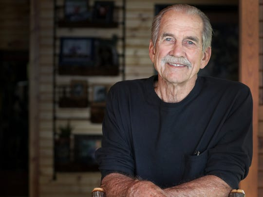 Fred Flom, spending time this spring at his cabin near Waupaca, is now 77 and lives in Dallas. The Menasha native was a fighter pilot in Vietnam and was held prisoner for more than six years after being shot down.