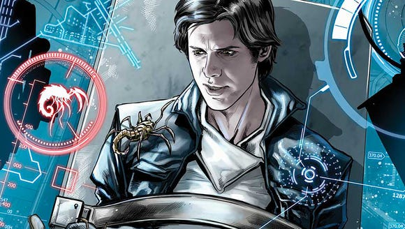 Han Solo is always in trouble, even in the comics.