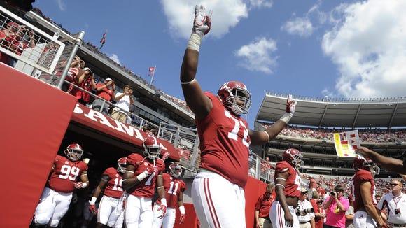 Alabama true freshman left tackle Cam Robinson hasn't