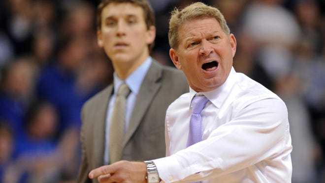 The Citadel's Duggar Baucom brings his high-powered offense to Hinkle Fieldhouse Saturday.