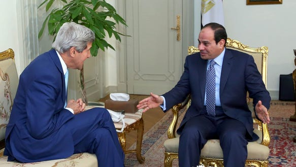 Kerry and el-Sisi