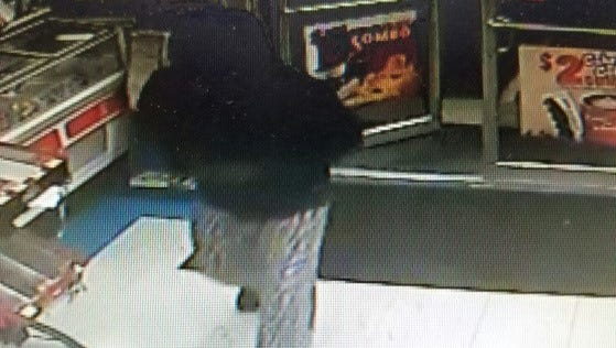 Police released surveillance photo of a would-be robber who left a Felton-area convenience store empty handed after a customer derailed his attempts.