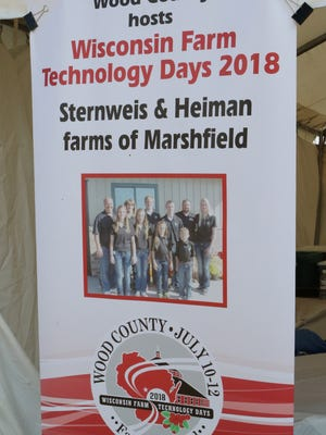 A sign at the 2017 Farm Technology Days announced the site of the 2018 event.