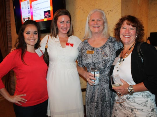 From left: Jamii Uboldi, Eileen Carter, Caroline Flanagan and Randi Thompson attend the Junior League of Reno mixer at Napa-Sonoma.