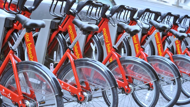 Capital Bikeshare has more than 2,500 bikes available at stations not only in Washington, D.C., but also in Maryland and Virginia.