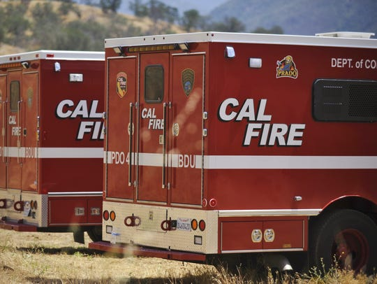 CAL FIRE crews responded to a wildfire just after 11