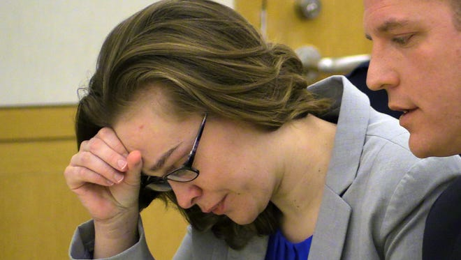 Lacey Spears in court Feb. 3 during the opening statements portion of her trial.