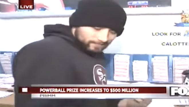 A 49ers fan had an outrageous answer about Powerball winnings.