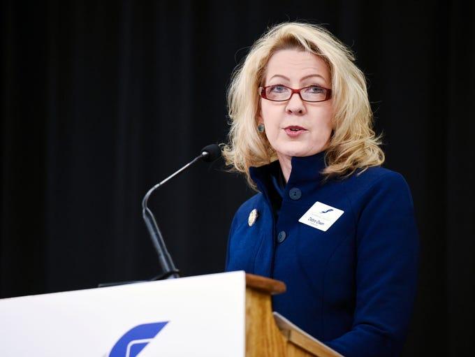 Lobbyist Debra Owen speaks during the Good Morning