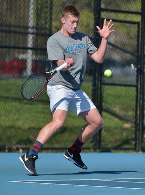 Colin Muraika, a Cedar Crest graduate, has played a big role in a successful season for the Johns Hopkins men's tennis team.