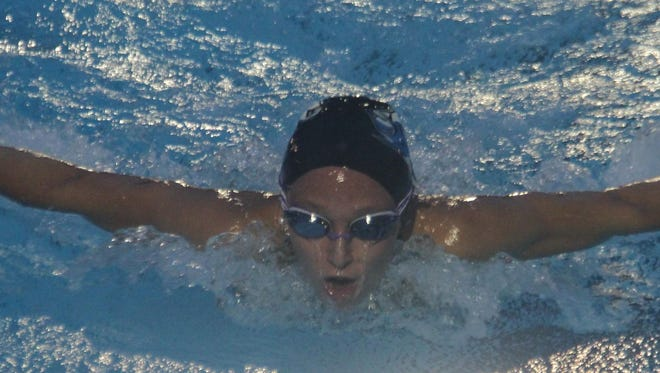 Highlands' Beth Ann Griffith is the school record holder in the girls' 100- and 200-yard freestyles.