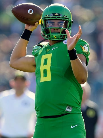 Marcus Mariota is expected to be a top pick in April's