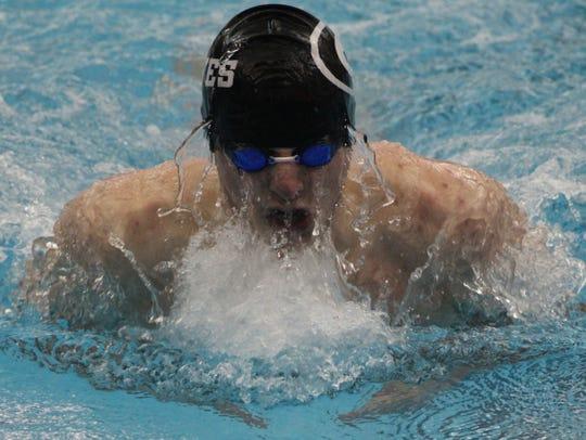 Groves senior Patrick Seidel placed third in the 200-IM