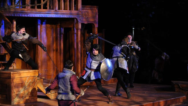 """Montana Shakespeare in the Parks actors recreate The Battle of Bosworth Field in """"Richard III."""" Montana Shakespeare in the Parks comes to Great Falls on Aug. 27-28."""