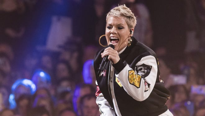 Pink will perform Saturday at Bankers Life Fieldhouse.