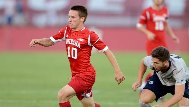 IU midfielder Tanner Thompson has the Hoosiers back in contention.