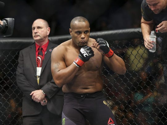 Daniel Cormier prior to his World Light Heavyweight Championship against Alexander Gustafsson (not pictured) at UFC 192 at Toyota Center, Oct. 3, 2015.