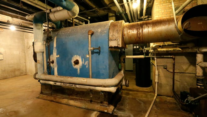 The boiler in the basement of SAGES school in Fox Lake is the building's original boiler installed in 1949. A portion of the $30 million dollar Waupun Area School District referendum would be used to replace the boiler.
