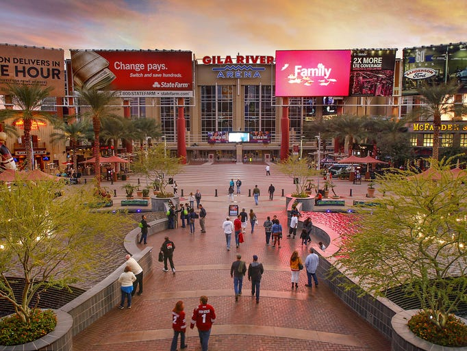 The Arizona Coyotes hockey team moved to Glendale in