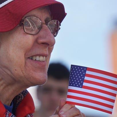 Elaine Pavkov of Mansfield enjoys the Memorial Day