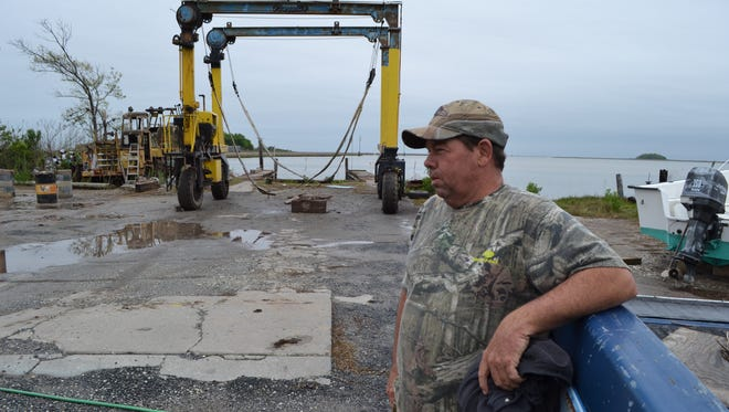 Chris Marshall, owner of L. Marsh & Son boatyard, talks about the business in Rhodes Point, Smith Island.