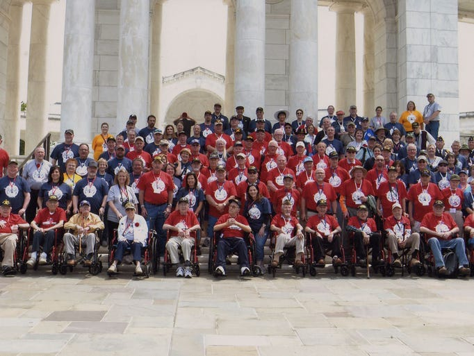 Sixty veterans were flown to Washington, D.C. for the