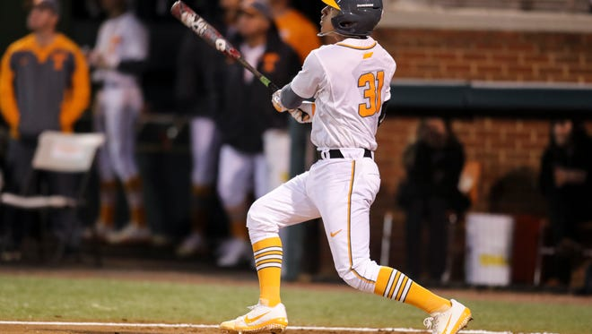Benito Santiago hit a second-inning home run for Tennessee's only run of the game in a 2-1 loss to Cincinnati on Friday night at Lindsey Nelson Stadium.