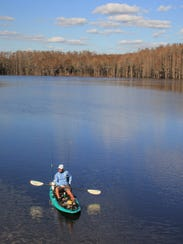Fishing and paddling are popular activities on Sneads
